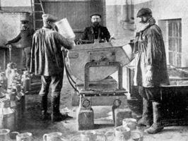 Collecte du lait en 1909