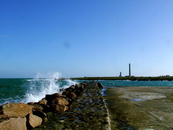 Le Phare de Gatteville à marée haute
